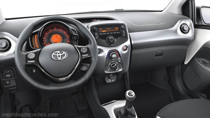 Medidas toyota aygo 2015 maletero e interior - Toyota aygo interior ...