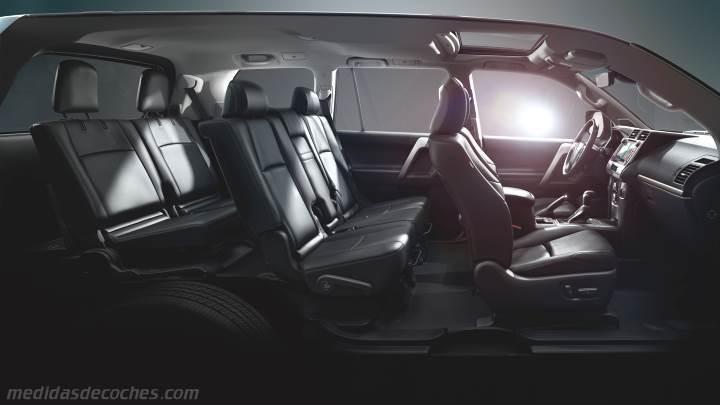 Medidas Toyota Land Cruiser 5p 2018, maletero e interior