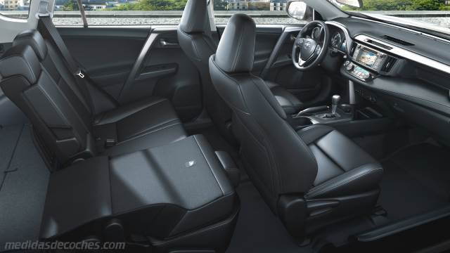 medidas toyota rav4 2016 maletero e interior. Black Bedroom Furniture Sets. Home Design Ideas