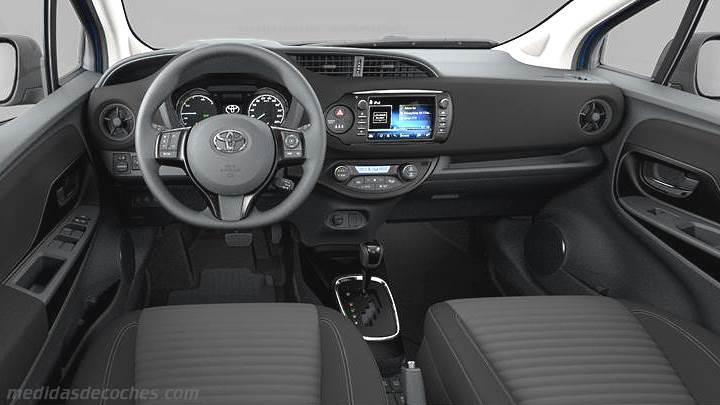 medidas toyota yaris 2017 maletero e interior. Black Bedroom Furniture Sets. Home Design Ideas