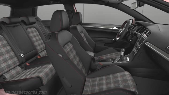 Medidas Volkswagen Golf GTI 2017, maletero e interior