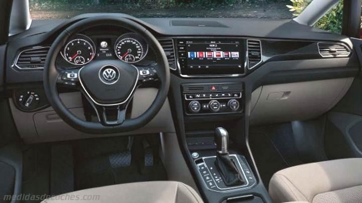 medidas volkswagen golf sportsvan 2018 maletero e interior. Black Bedroom Furniture Sets. Home Design Ideas