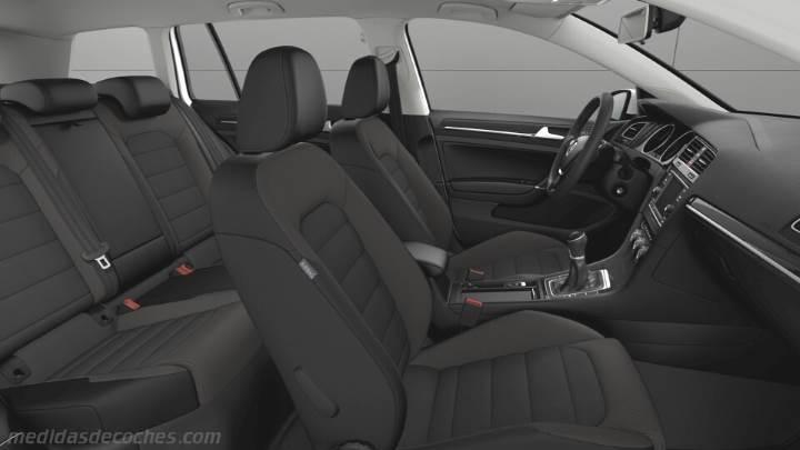 Medidas Volkswagen Golf Variant 2017, maletero e interior
