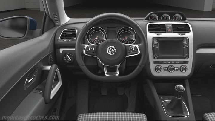 Medidas Volkswagen Scirocco 2014, maletero e interior