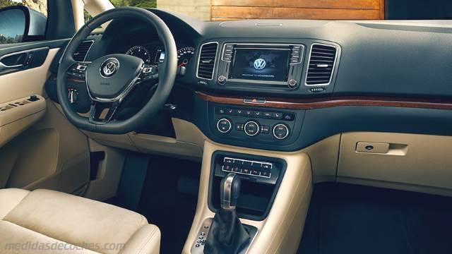 Medidas Volkswagen Sharan 2015, maletero e interior
