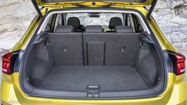 medidas volkswagen t roc 2018 maletero e interior. Black Bedroom Furniture Sets. Home Design Ideas