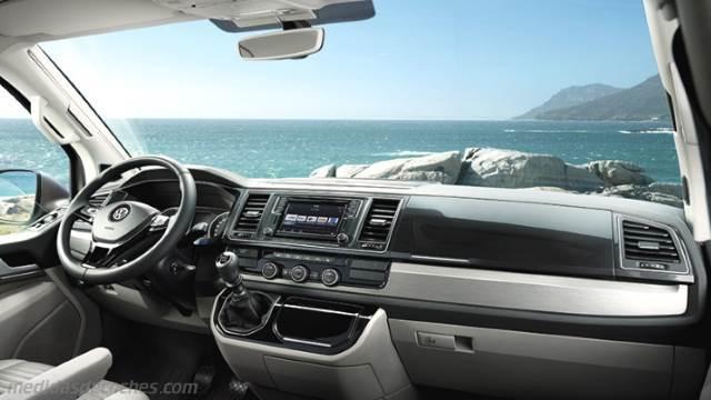 Medidas Volkswagen T6 California 2015, maletero e interior