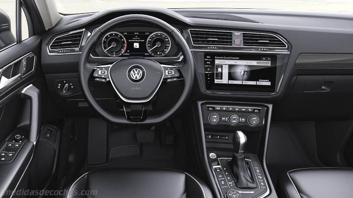 Nuevo Touareg 2018 Interior >> Medidas Volkswagen Tiguan Allspace 2018, maletero e interior