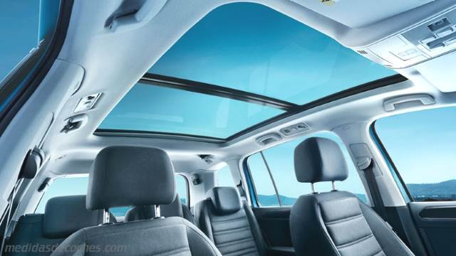 Medidas Volkswagen Touran 2016, maletero e interior