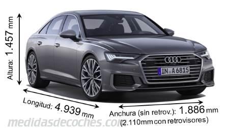 c42eddc3512 Medidas Audi A6 2018, maletero e interior