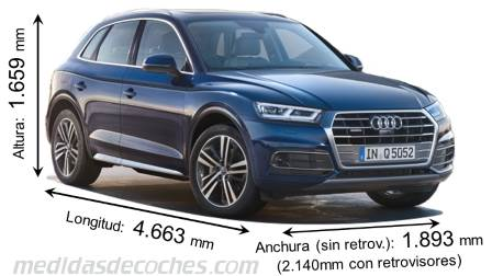 Medidas Audi Q5 2017 Maletero E Interior