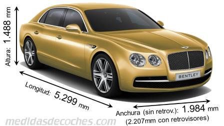 Bentley Flying Spur largo x ancho x alto