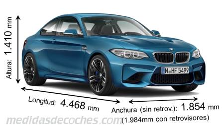 BMW M2 Coupé dimensiones