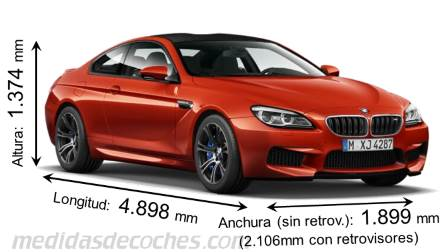 BMW M6 Coupé dimensiones