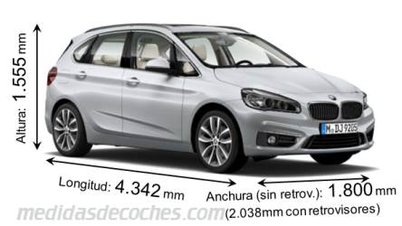 BMW Serie 2 Active Tourer tamaño