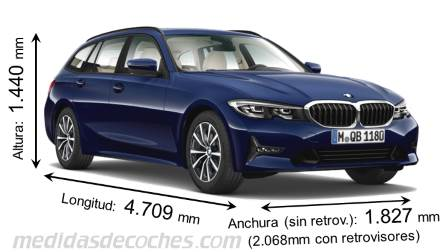 BMW Serie 3 Touring largo x ancho x alto