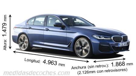 BMW Serie 5 Berlina largo x ancho x alto
