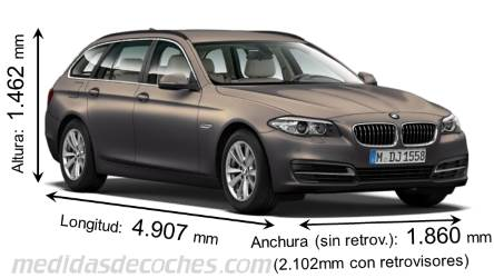 BMW Serie 5 Touring largo x ancho x alto