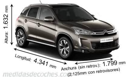 Citroën C4 Aircross largo x ancho x alto