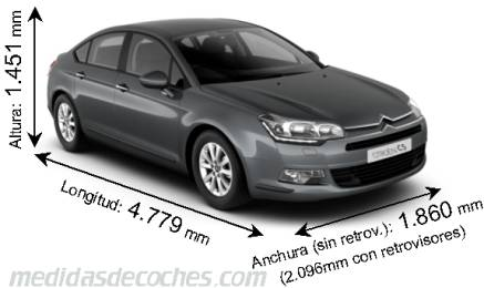 Citroën C5 cotas en mm