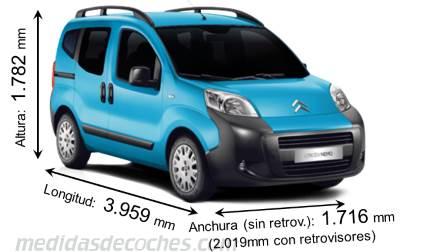 Medidas citroen nemo multispace 2012 maletero e interior - Medidas interiores furgonetas ...