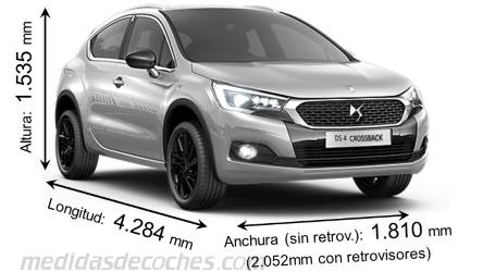 DS DS4 Crossback dimensiones
