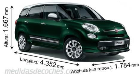 Fiat 500L Living dimensiones