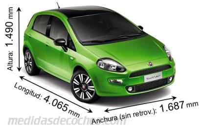 Medidas y dimensiones de coches marca fiat for Capacidad baul fiat punto