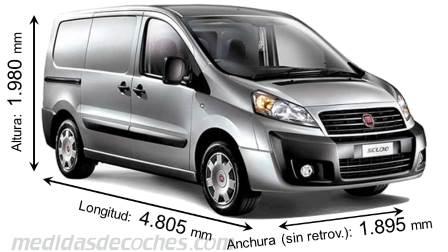 Medidas fiat scudo combi 2012 maletero e interior - Medidas interiores furgonetas ...