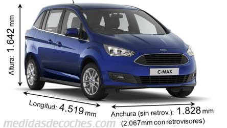 Ford Grand C-MAX dimensiones