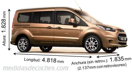 Ford Grand Tourneo Connect cotas en mm