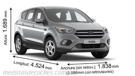 Medidas Ford Kuga 2017 Maletero E Interior