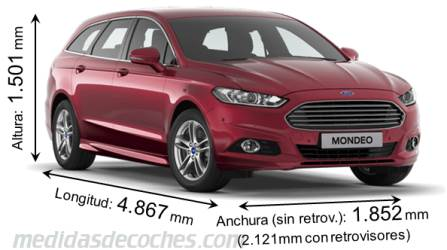 Ford Mondeo SportBreak cotas en mm