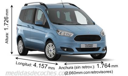 Ford Tourneo Courier dimensiones