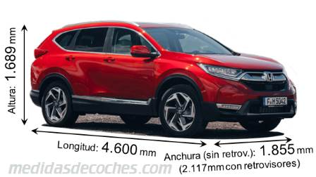 Honda CR-V cotas en mm