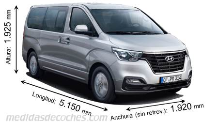 Medidas Hyundai H-1 Travel 2019