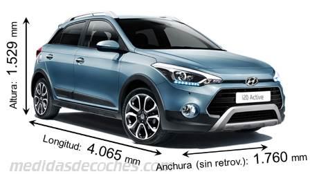 Medidas y dimensiones de coches marca Hyundai