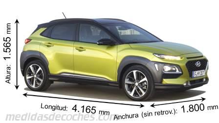 Medidas Hyundai Kona 2018, maletero e interior