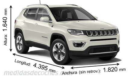 Jeep Compass dimensiones
