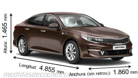 Kia Optima cotas en mm