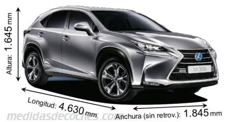Medidas y dimensiones de coches marca Lexus
