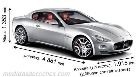 medidas y dimensiones de coches marca maserati