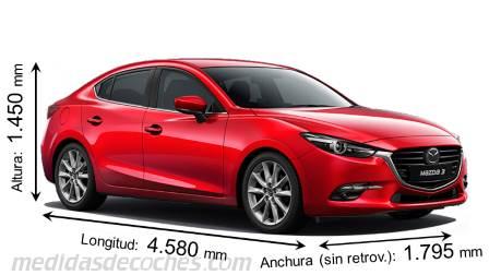 Medidas y dimensiones de coches marca Mazda