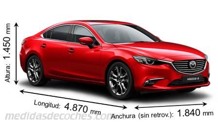 Nuevo Mazda 6 2018 >> Medidas y dimensiones de coches marca Mazda