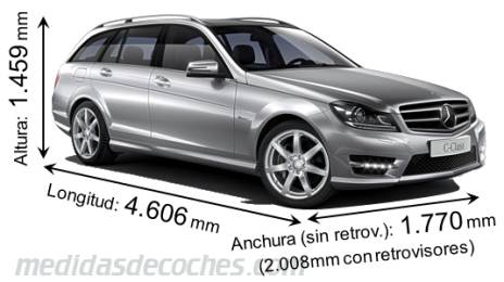 Mercedes-Benz Clase C Estate dimensiones