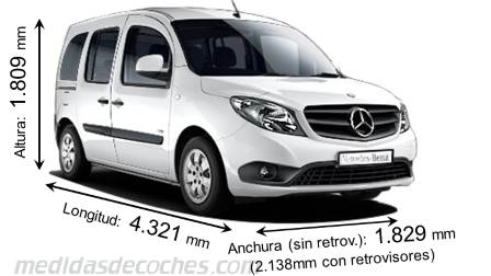 Mercedes-Benz Citan Tourer cotas en mm