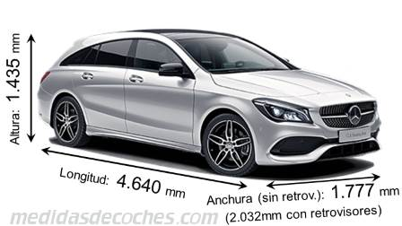 Mercedes-Benz CLA Shooting Brake dimensiones