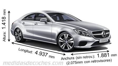 Mercedes-Benz CLS Coupé largo x ancho x alto