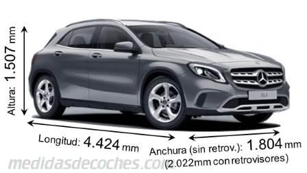 Medidas Mercedes Benz Gla 2017 Maletero E Interior