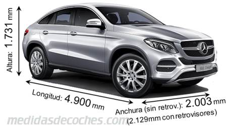 Mercedes-Benz GLE Coupé largo x ancho x alto